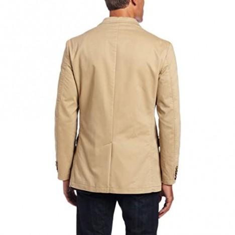Haggar Men's LK Life Khaki Two-Button Oxford Jacket