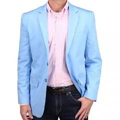 Mens Casual Blazer Sport Coat Jacket (Sky Blue