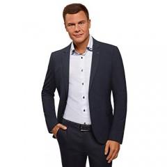 oodji Ultra Men's Basic Slim-Fit Blazer