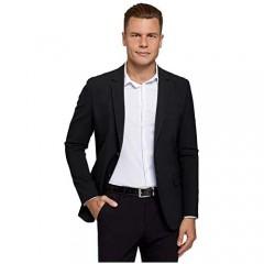 oodji Ultra Men's Slim-Fit Buttoned Blazer Black US 44 / EU 54 / L