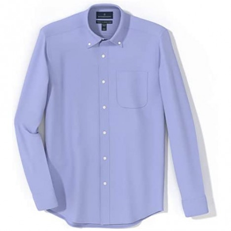 Brand - Buttoned Down Men's Tailored-Fit Button Collar Pinpoint Non-Iron Dress Shirt Blue 18.5 Neck 38 Sleeve (Big and Tall)