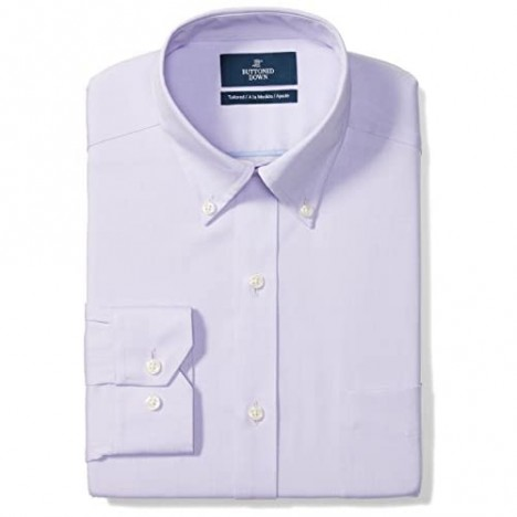 Brand - Buttoned Down Men's Tailored-Fit Button Collar Pinpoint Non-Iron Dress Shirt Purple 16 Neck 36 Sleeve