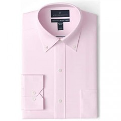 Brand - Buttoned Down Men's Tailored-Fit Button Collar Pinpoint Non-Iron Dress Shirt Light Pink 15.5 Neck 35 Sleeve