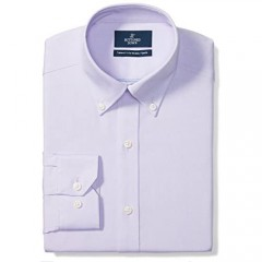 """Brand - Buttoned Down Men's Tailored-Fit Button Collar Pinpoint Non-Iron Dress Shirt Purple 18"""" Neck 38"""" Sleeve (Big and Tall)"""