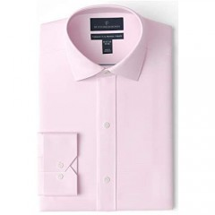 Brand - Buttoned Down Men's Tailored Fit Spread Collar Solid Non-Iron Dress Shirt Light Pink 19 Neck 36 Sleeve