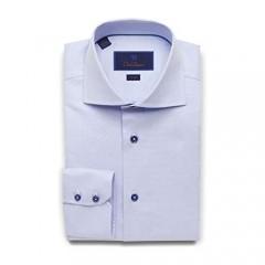 David Donahue Mens Trim Fit Long Sleeve Micro Textured Dobby Weave Dress Shirt