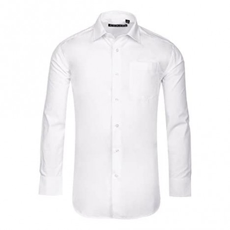 Luxton Mens Dress Shirts Mens Slim Fit Long Sleeve Cotton Poly Casual and Formal Shirts