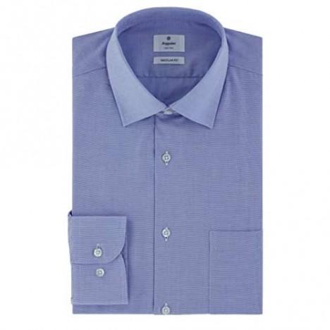 Scappino Blue Dobby Fabric Dress Shirt Blue