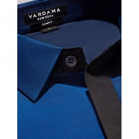 Vardama Men's Sweat Proof Shirt Monroe with Welt Pocket & Stain Resistant Tech Slim Fit