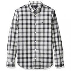 AX Armani Exchange Men's Cotton Stretch Long Sleeve Plaid Button Down Shirt