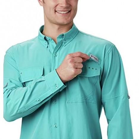 Columbia Men's PFG Permit Woven Long Sleeve Shirt Vented Sun Protection