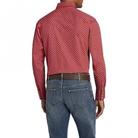ELY CATTLEMAN Men's Long Sleeve Ditzy Shirt Burgundy Print X-Large