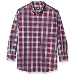 Nautica Big & Tall Men's Big and Tall Classic-fit Wrinkle-Resistant Plaid Shirt
