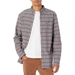 Original Penguin Men's WVN Long Sleeve Horiz Stripe Shirt