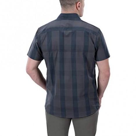 Vertx Guardian 2.0 Short Sleeve Shirt Blue Ash Plaid 2XL