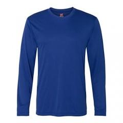 Hanes Cool DRI'Performance mens Long-Sleeve T-Shirt Deep Royal Large