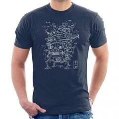 Howls Moving Castle Blueprint Men's T-Shirt