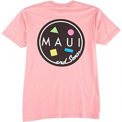 Maui & Sons Men's Classic Cookie Short Sleeve Tee