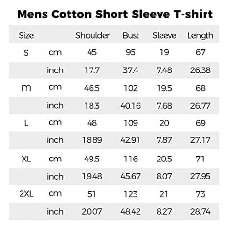 Men's Muscle T Shirts Cotton Slim Fit Crew Neck Short Sleeve Basic Tees Lightweight Workout Sport Shirt Tops