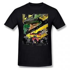 NDCATHE Ayrton Senna Artwork Men's Basic Short Sleeve T-Shirt