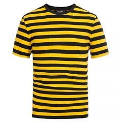 PJ PAUL JONES Men's Crewneck Short Sleeve Striped T-Shirt