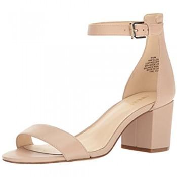 NINE WEST Women's Fields Leather Dress Sandal