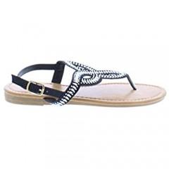 Women's AB Rhinestone Sandal Flat Sandals