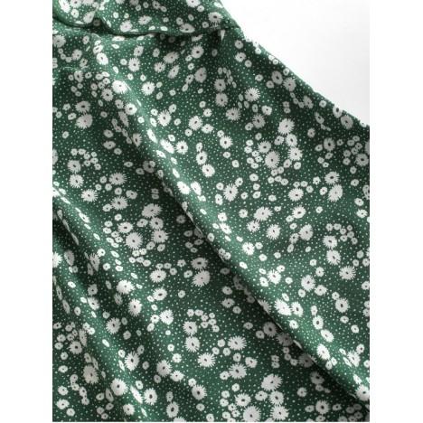 ZAFUL Ruffles Ditsy Floral Cami Mini Dress