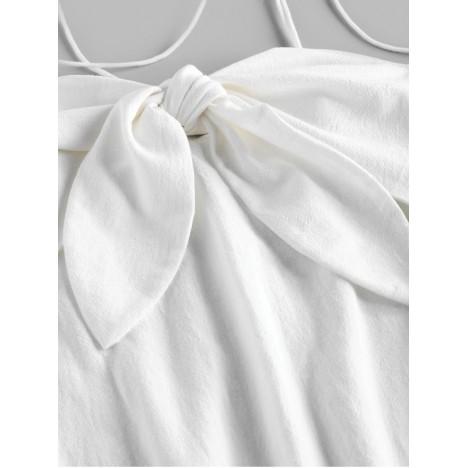 ZAFUL Tie Shoulder Knotted Cami Mini Dress