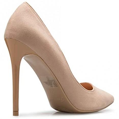 Olivia K Women's Classic D'Orsay Closed Toe High Heel Pump - Casual Comfortable
