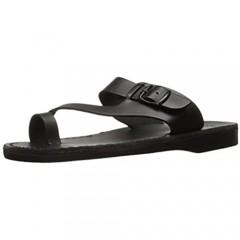 Abner - Leather Metal Buckle Sandal - Mens Sandals