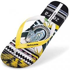 Hotmarzz Men's Flip Flops Patterns and Prints Summer Sandals Beach Slippers