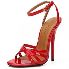 MAIERNISI JESSI Unisex Men's Women's Ankle Strap Slingback Stiletto High Heel Dress Sandals