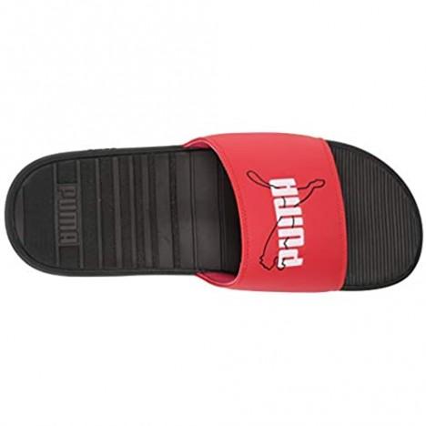 PUMA Men's Cool CAT Slide Sandal High Risk Red Black White 13