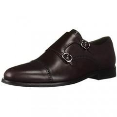 MARC JOSEPH NEW YORK Men's Leather Double Monk Dress Shoe Oxford Wine Nappa 11 M US