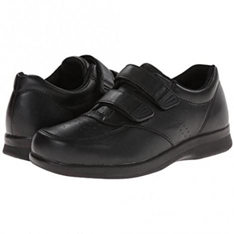 Propet Men's Vista Strap Shoe Black 10 D US
