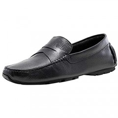 J75 by Jump Men's Daytona Stylish | Light Weight | Leather Upper | Slip-ons | Penny Brace Driver | Casual Shoes| Smoking Slipper | Dress Loafers for Men