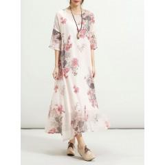 2pcs floral printed swing dress Sal