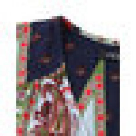 Oeuvre bohemian women v-neck printed beach party maxi dress Sal