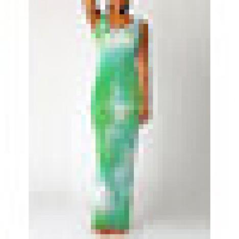 Tie-dye print o-neck sleeveless maxi dress Sal