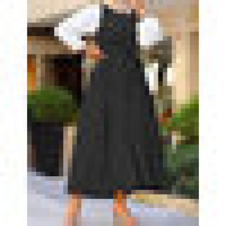 Women sleeveless solid color belted a-line casual loose slip maxi dress Sal