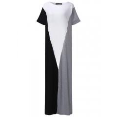 Women splice color long maxi dress Sal