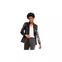 Inc Allover-Sequin Blazer DEEP Black Small
