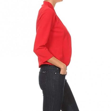 MissMissy Womens Casual Business Slim Fit Long Sleeve Blazer Jackets J907