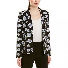 Tahari ASL Women's ROLL Collar ONE Button Jacket