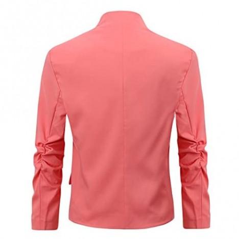 Women's Folding Sleeve Office Blazer (TG00000 Pink XS)
