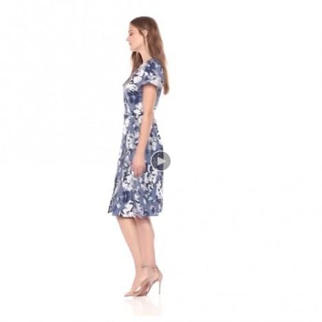 Brand - Lark & Ro Women's Flutter Sleeve Wrap Dress