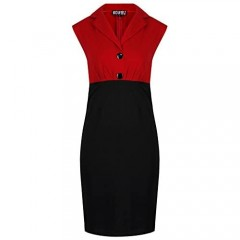 Rockabilly 50's Polka Floral Cherries Party Wiggle Pencil Dress