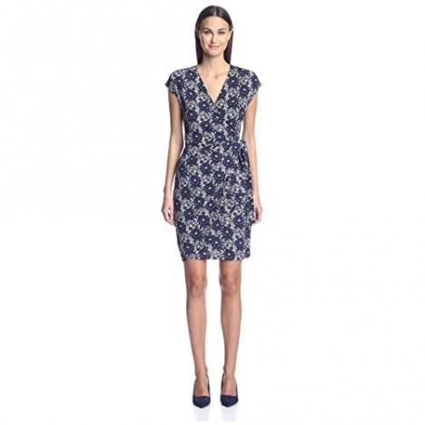 SOCIETY NEW YORK Women's Cap-Sleeve Wrap Dress