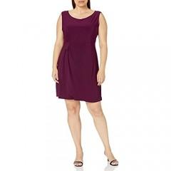 Star Vixen Women's Plus-Size Sleeveless Side-Cinch Dress